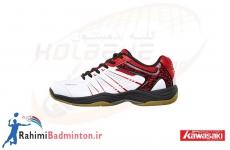 کفش بدمینتون کاوازاکی مدل K-063 رنگ سفید-قرمز